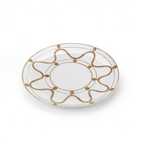 Serenity Beige on White Dinner Plate