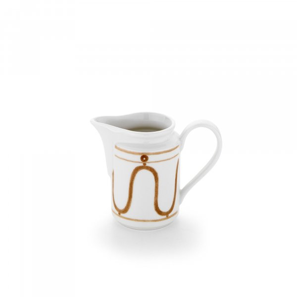 Serenity Beige on White Milk Jug