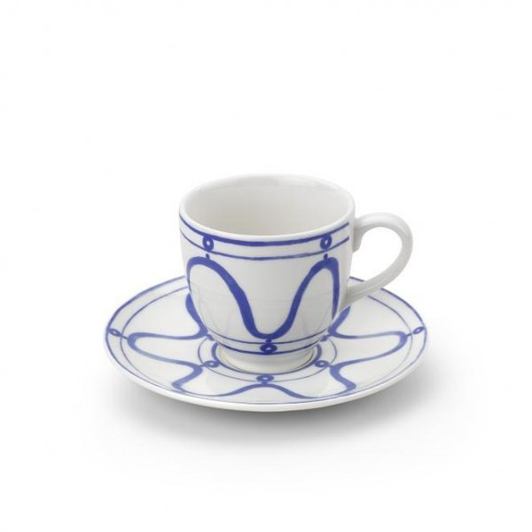 Serenity Blue on White Coffee or Tea Cup