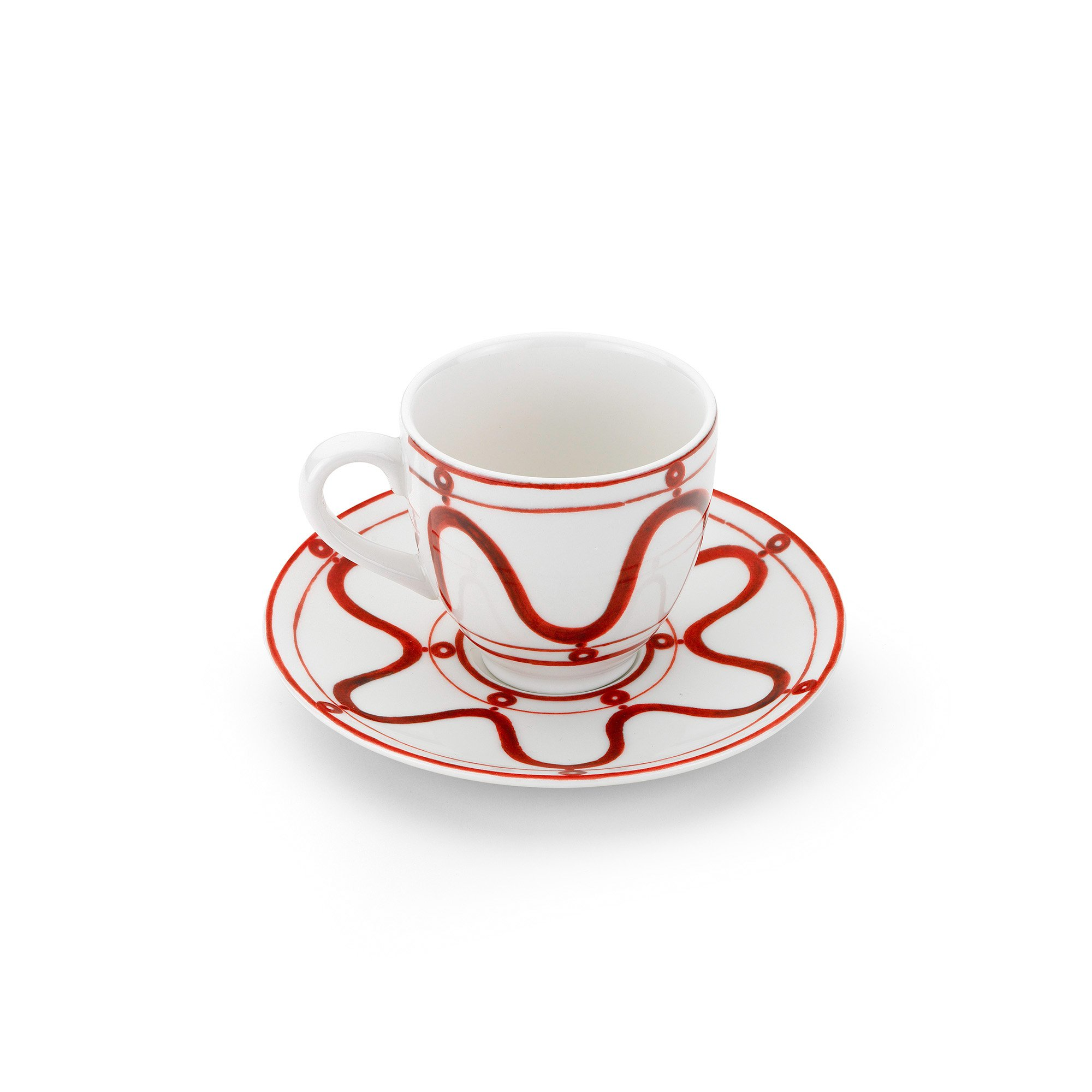 Serenity Burgundy on White Coffee or Tea Cup