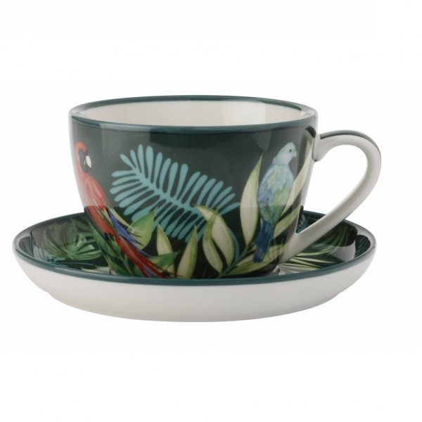 Tropical Nights Tea Cup With Saucer 330ml, Set of 4