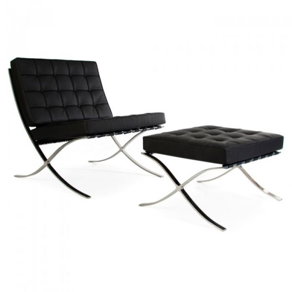 Private: 1 Seater & Ottoman Pavillion Leather Chair
