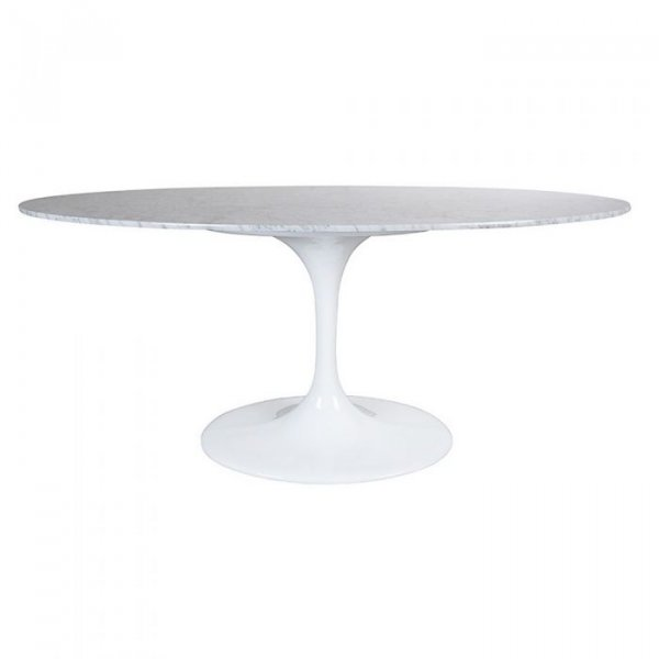 Top Oval Table in Marble Aluminium Base