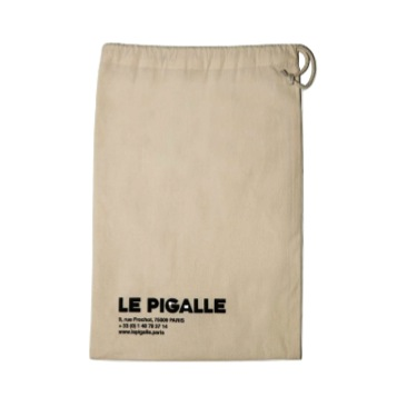 White Cotton Graphic Laundry Bag, Jean André x Le Pigalle