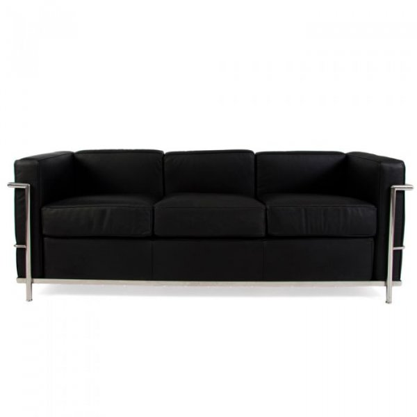 3 Seater LC2 Petit Leather Sofa Le Corbusier