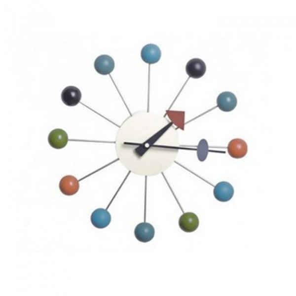 Painted Wooden Ball Clock