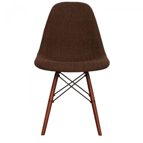 DSW Side Chair in Walnut Legs and Fabric