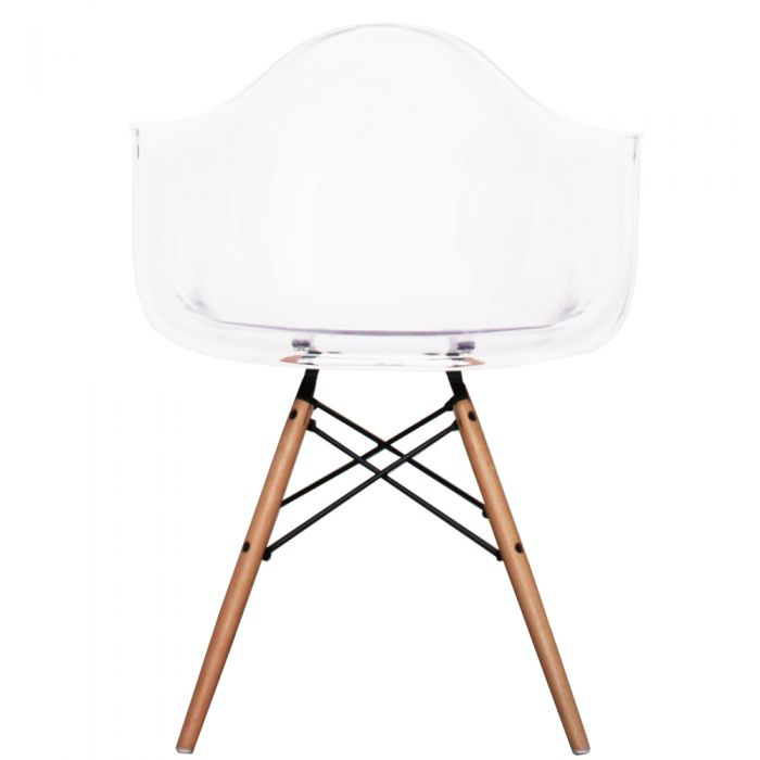 DAW Arm Chair in Natural Legs and Polypropylene