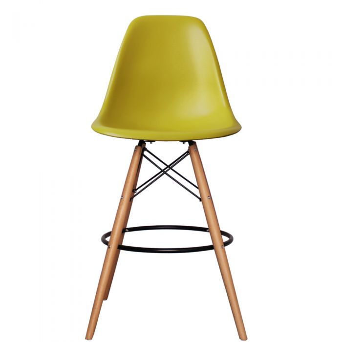 DSB Bar Stool in Natural Legs and Polypropylene Seat