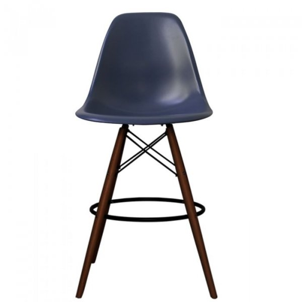 DSB Bar Stool in Walnut Legs and Polypropylene Seat
