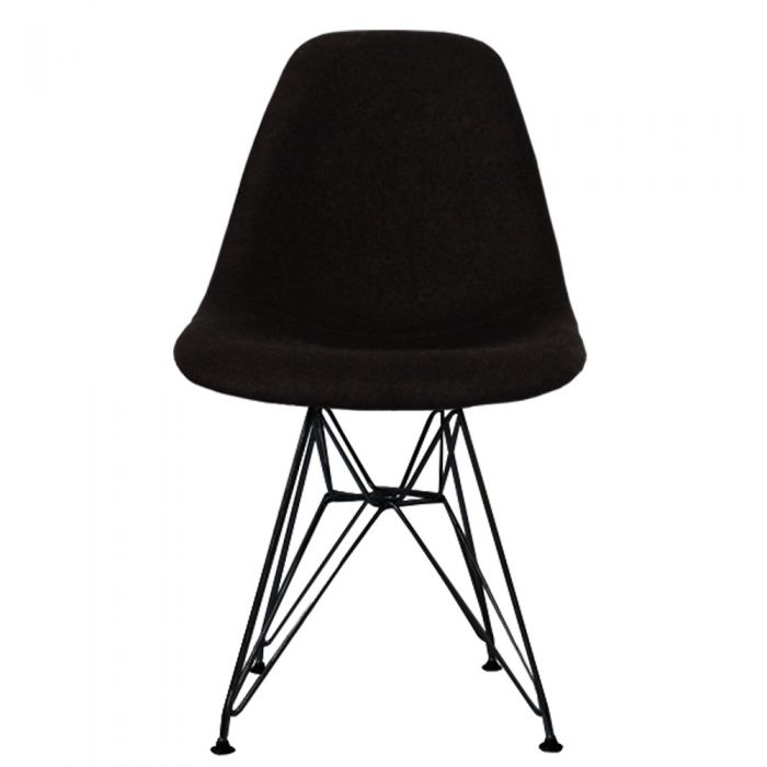 DSR Side Chair in Black Legs and Fabric