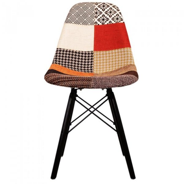DSW Side Chair in Black Legs and Fabric