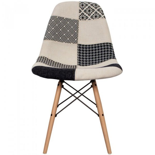 DSW Side Chair in Natural Legs and Fabric