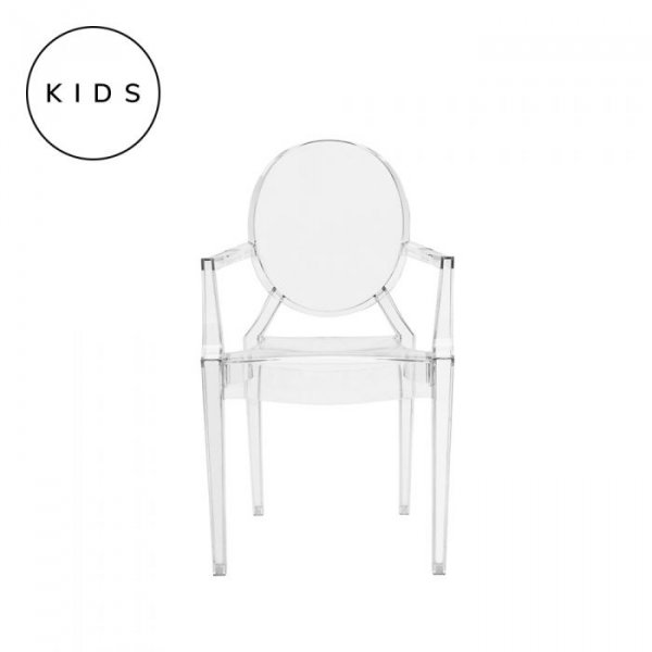 Childrens Lou Lou Ghost Chair in Clear Polycarbonate