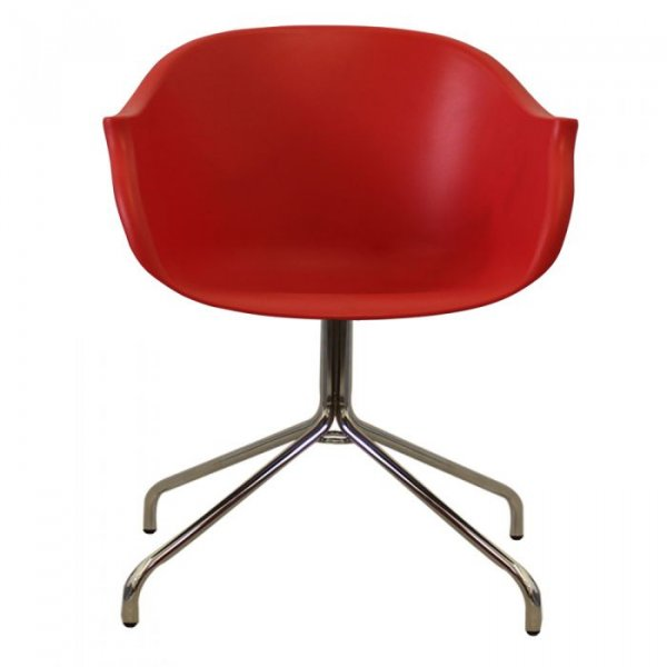 N-DASP Arm Chair in Chrome Legs and Polypropylene Seat