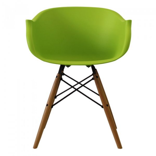 N-DAW Arm Chair in Natural Legs and Polypropylene Seat