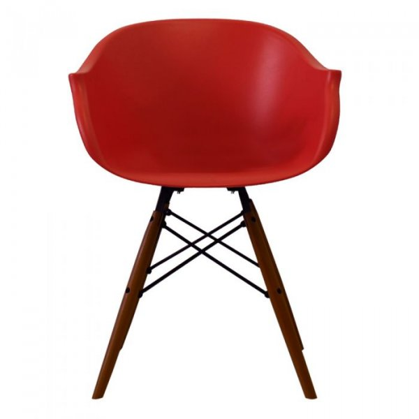 N-DAW Arm Chair in Walnut Legs and Polypropylene Seat