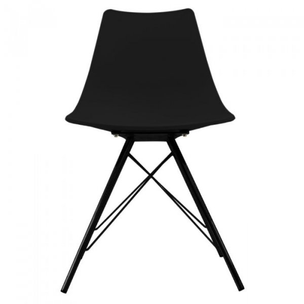 N-DSR Side Chair in Black Legs and Polypropylene Seat