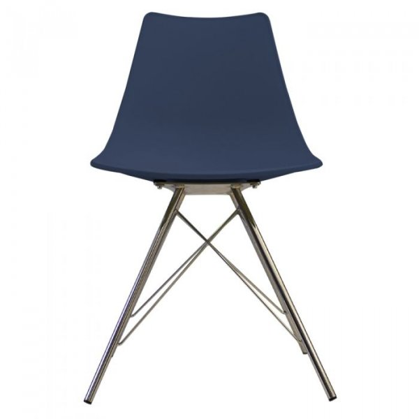 N-DSR Side Chair in Chrome Legs and Polypropylene Seat