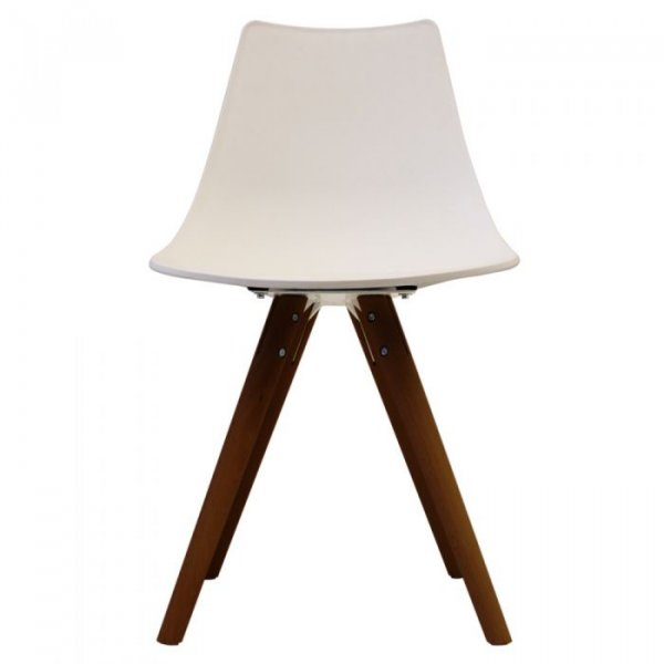 N-DSW Side Chair in Walnut Legs and Polypropylene Seat
