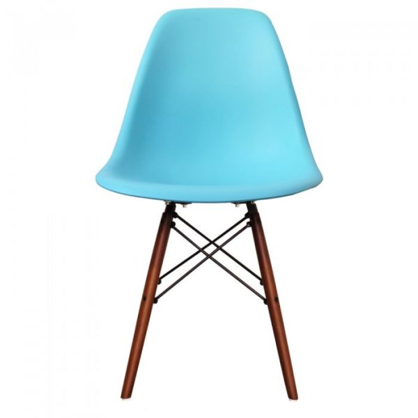 DSW Side Chair in Walnut Legs and Polypropylene