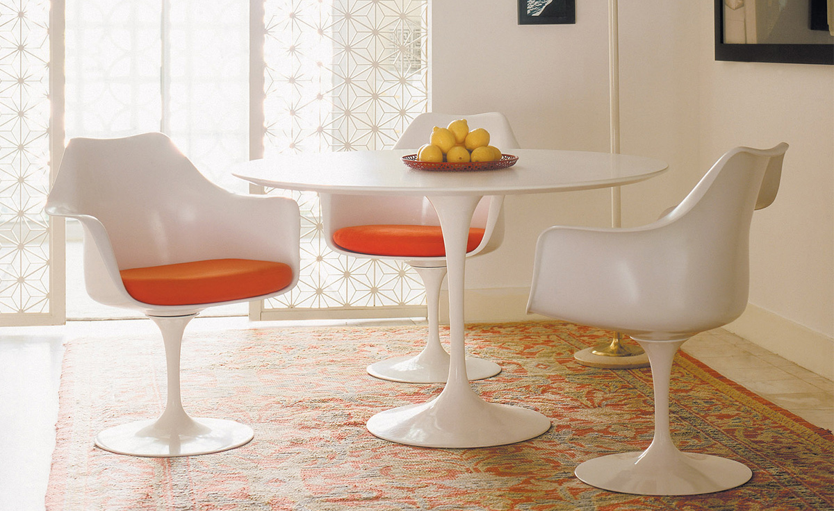Tulip Style Set- Marble Table Top 6 Chairs