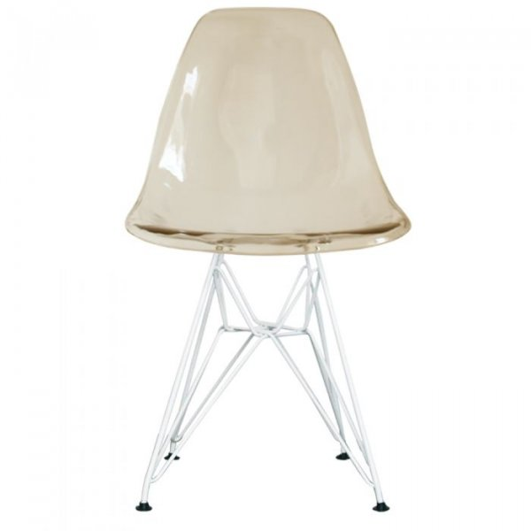 DSR Side Chair in White Legs