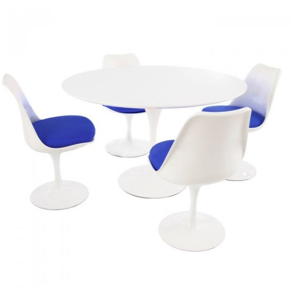 Private: Tulip Style Set-White Table Top 4 Chairs