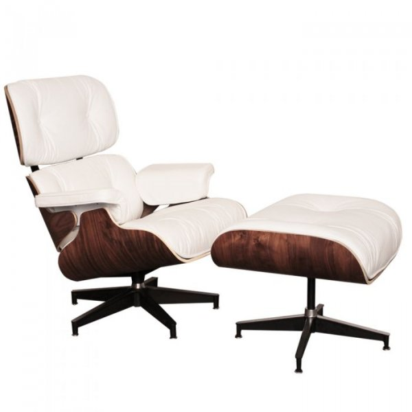 Lounge Chair and Ottoman in Walnut Moulded Wood Veneers