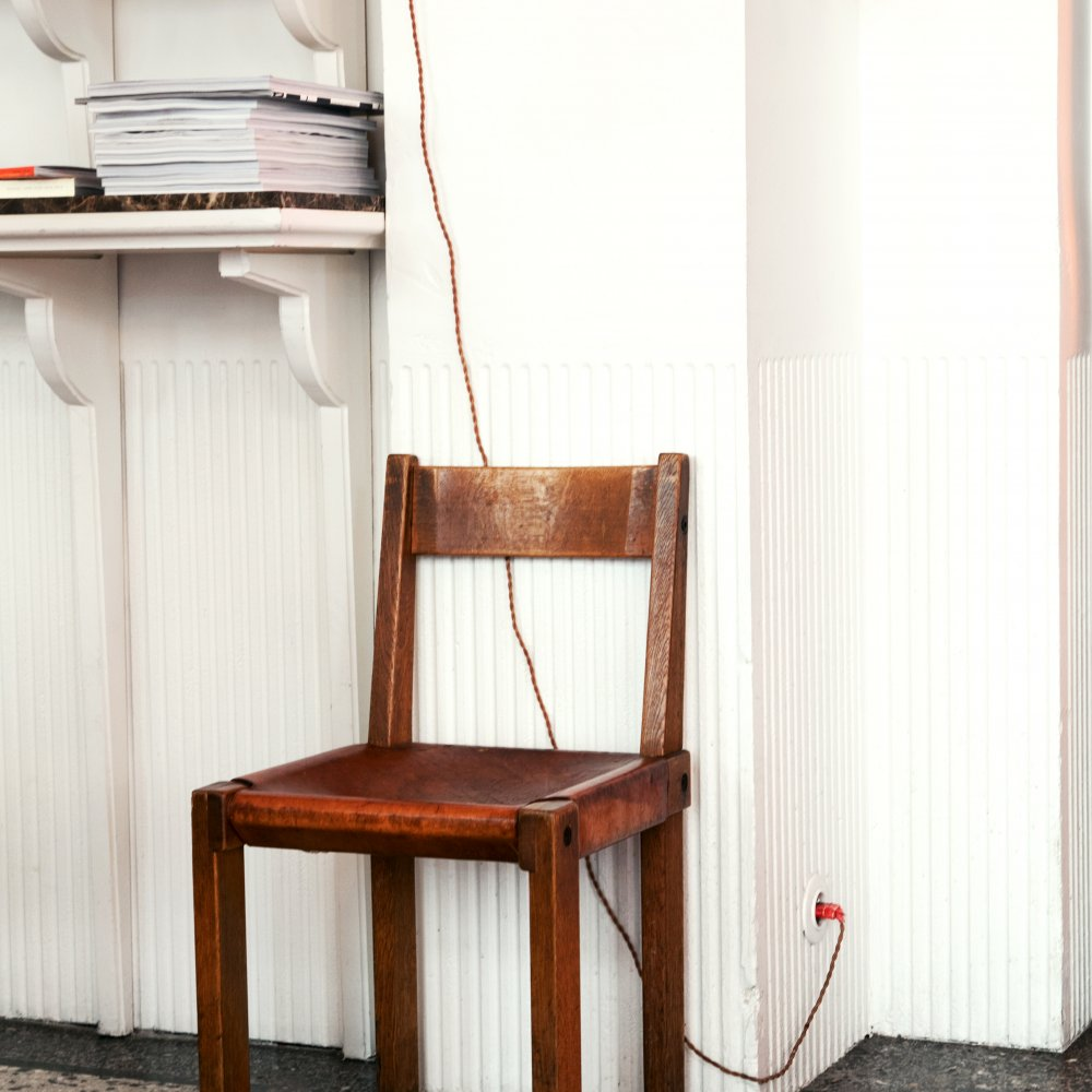 Pierre Chapo Wood and Leather Chair S24
