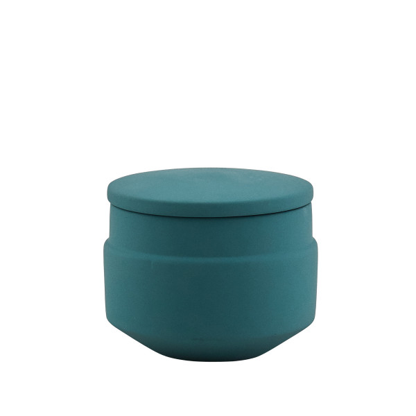 Green Ceramic Sugar Pot