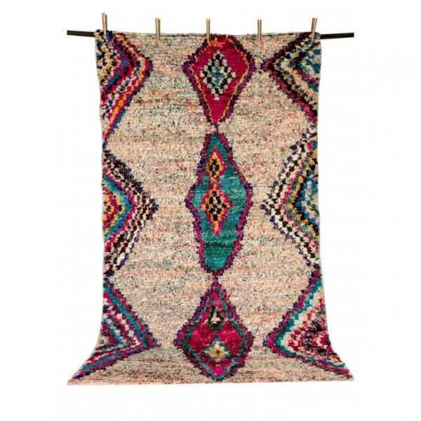 Multicolored Boucherouite Rug- Hadiya