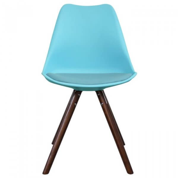 I-DSW Pyramid Chair in Walnut Stained Legs