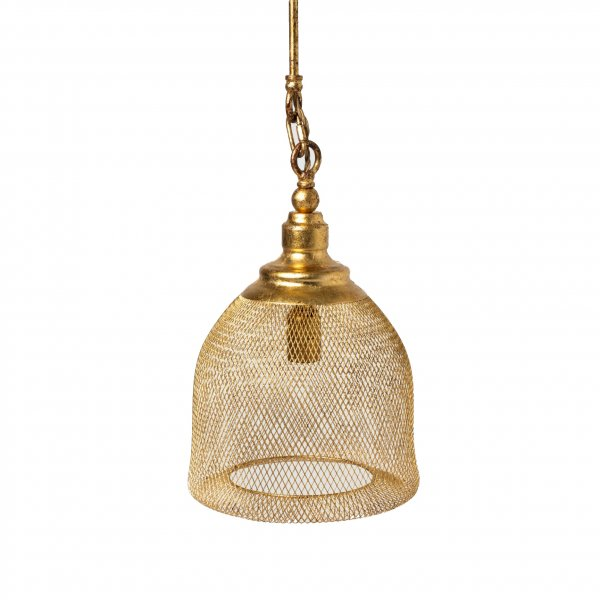 Gold Leaf Bell Chandelier