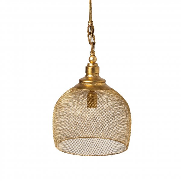 Gold Leaf Round Chandelier