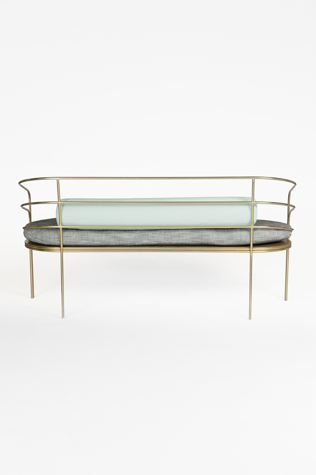 Demille Sofa in Plated Steel