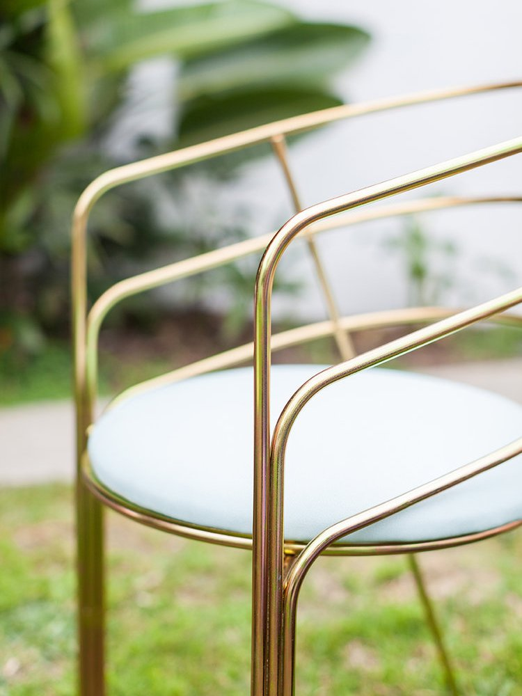 Demille Dining Chair in Plated Steel