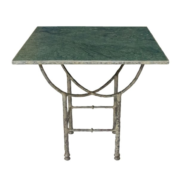 Green Square Marble Courtyard Table