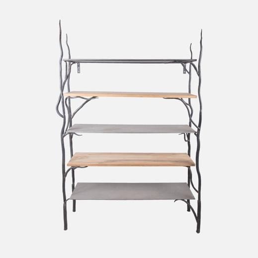 Vine Shelving Unit, four shelves, space for cupboard