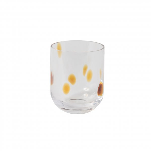 Amber Spot Water Glass