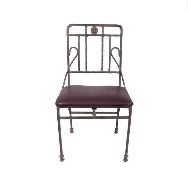 Bee Iron Chair with Leather Cushion