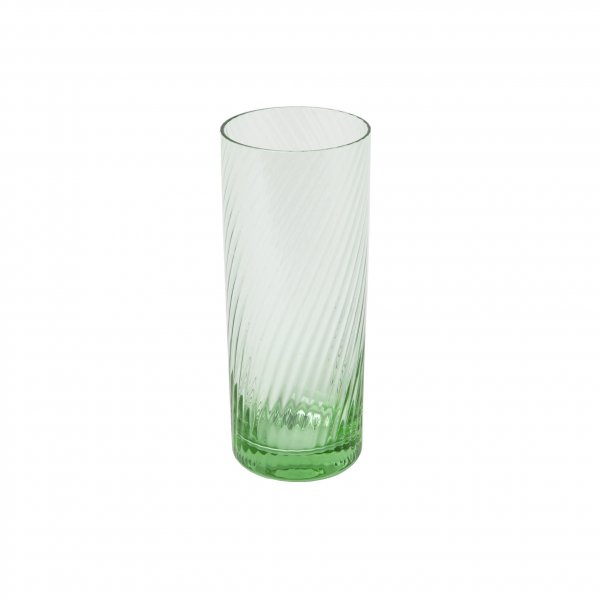 Green Spiral Highball Tumbler
