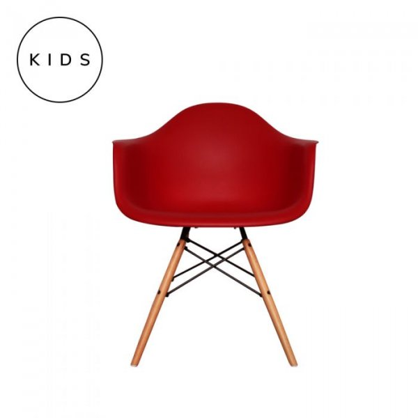 Kids DAW Arm Chair in Natural Legs and Polypropylene