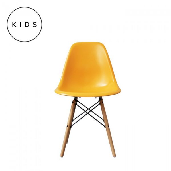 Kids DSW Side Chair in Natural Legs and Polypropylene