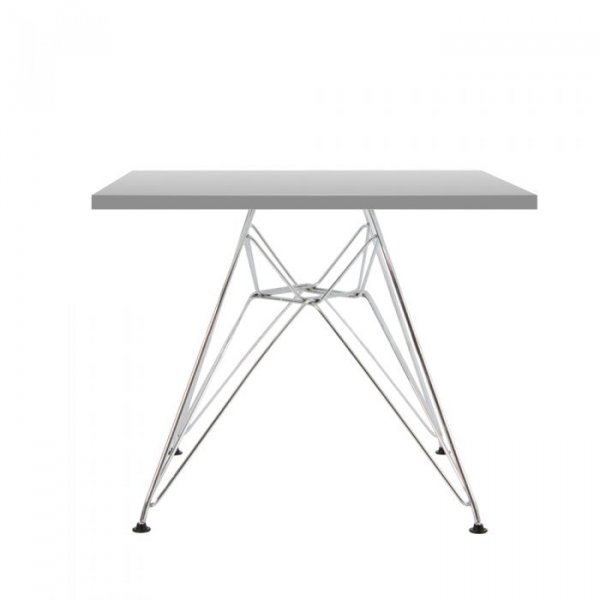 Eiffel Square Side Table in Chrome Steel