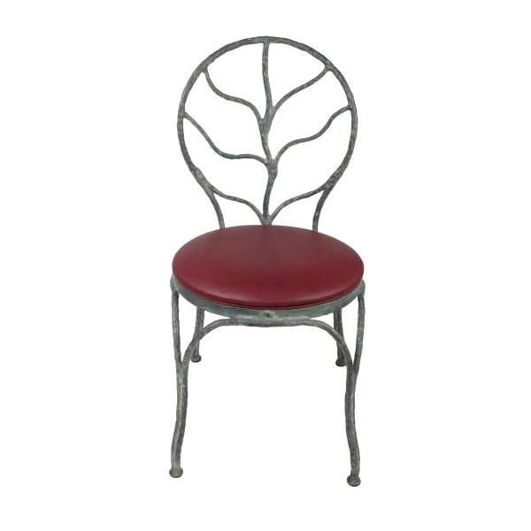Private: Leaf Back Dining Chair with Leather Cushion