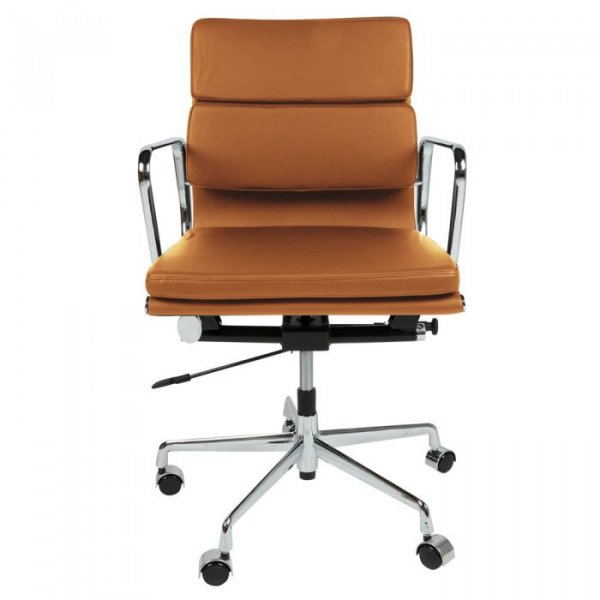 Eames Style EA217 Office Chair in Low Back Soft Pad Leather