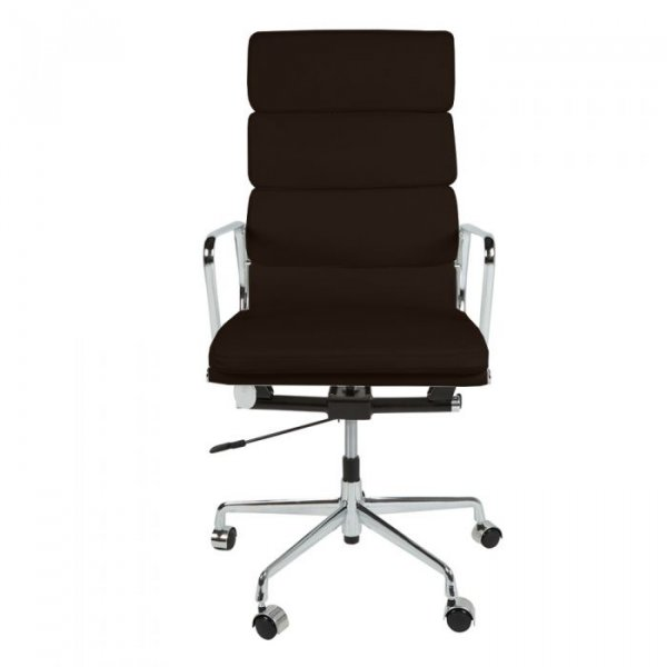 Eames Style EA219 Office Chair in High Back Soft Pad Leather