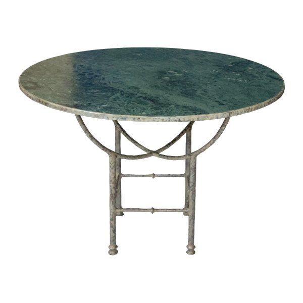 Green Marble Round Courtyard Table