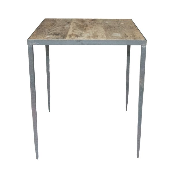 Square Wooden Table With Iron Legs